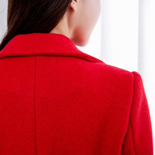 เสื้อโค้ทกันหนาวกึ่งสูท คอปกใหญ่ ผ้าวูลหนานุ่ม