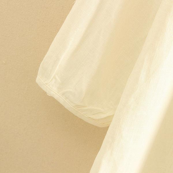 เดรสแฟชั่นญี่ปุ่น แขนยาวมีสแนป ปักลายวินเทจน่ารัก