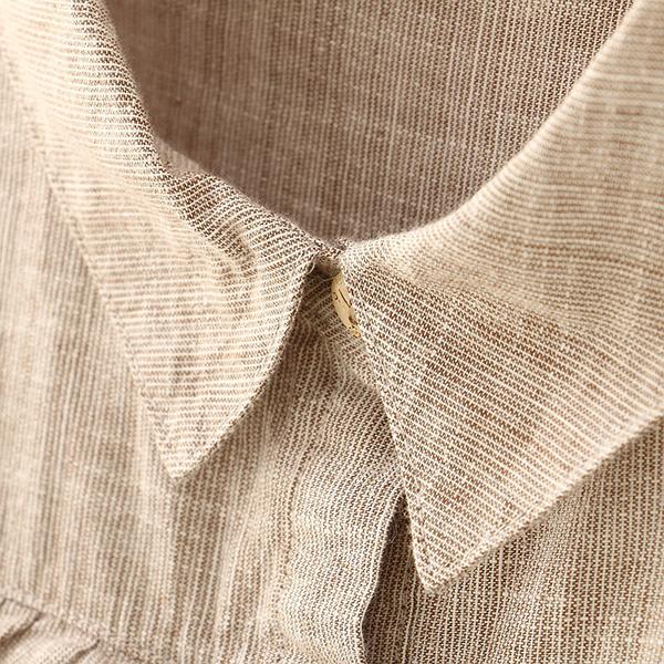 เสื้อเชิ้ตแขนยาว แต่งปักลายวินเทจน่ารัก