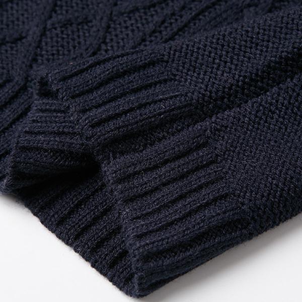 เดรสไหมพรมกันหนาว คอพับใหญ่ ผ้าหนานุ่มถักลายสวย