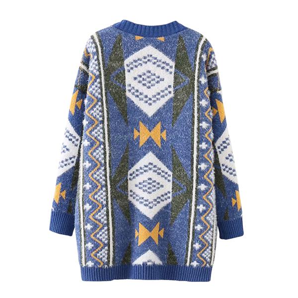 Premium Cardigan เสื้อคลุมไหมพรมขนนุ่มถักลายวินเทจ ทรงโอเวอร์ไซส์