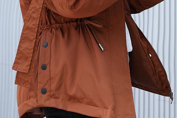 เสื้อโค้ทกันหนาวติดลบ บุนวมหนา เฟอร์ถอดได้