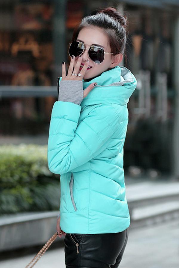 เสื้อโค้ทกันหนาวติดลบลุยหิมะได้ คอปิดซ้อนฮู้ด พร้อมช่องสอดนิ้ว (12236X)