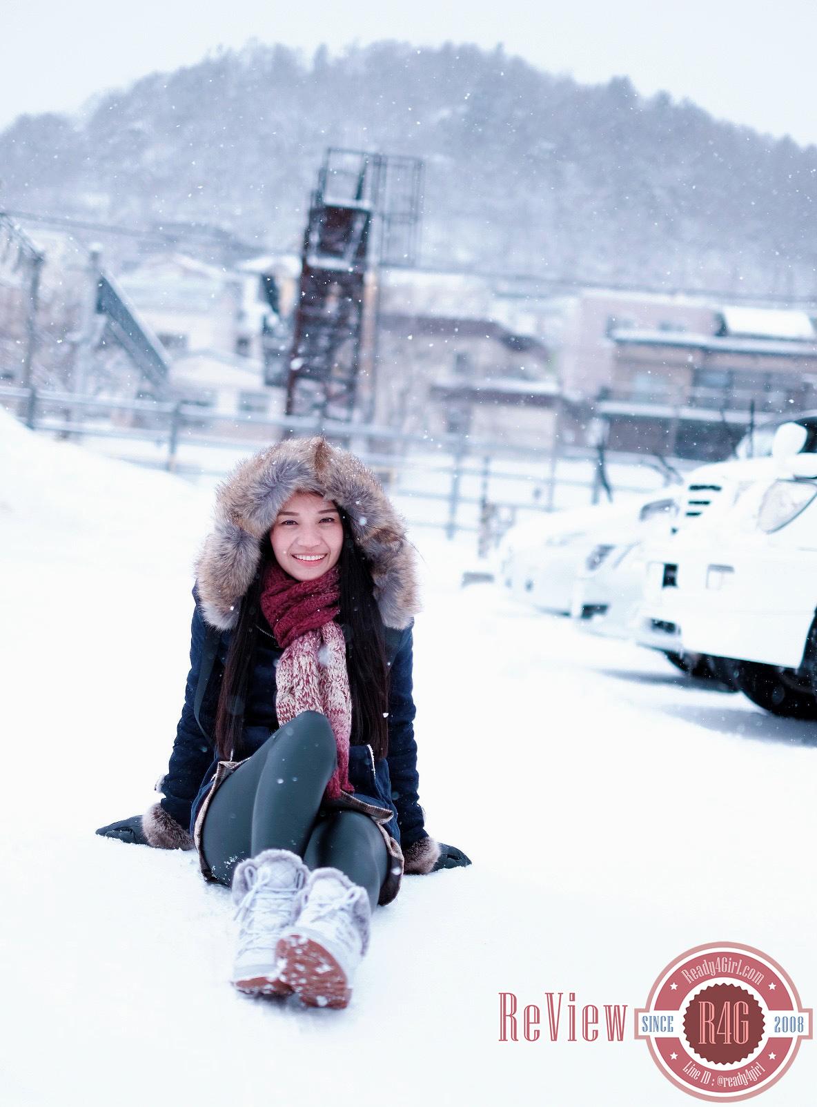 เสื้อโค้ทแฟชั่นญี่ปุ่น มีฮู้ดเฟอร์ถอดได้ ซับขนกันหนาวติดลบ