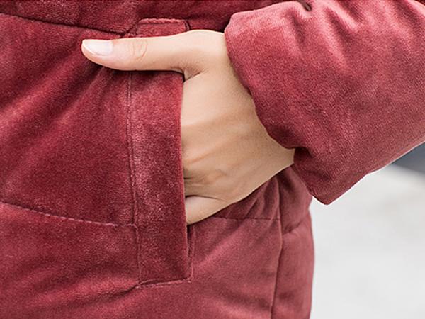 เสื้อโค้ทกันหนาวติดลบ ผ้ากำมะหยี่บุนวมหนา