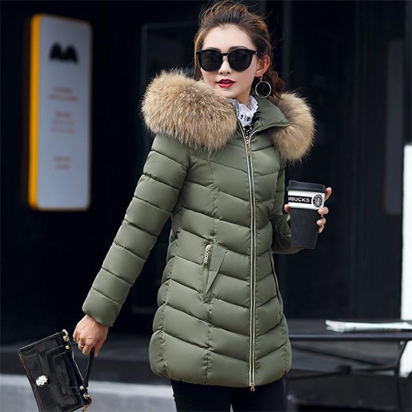 เสื้อโค้ทกันหนาวติดลบลุยหิมะ เฟอร์และฮู้ดถอดได้