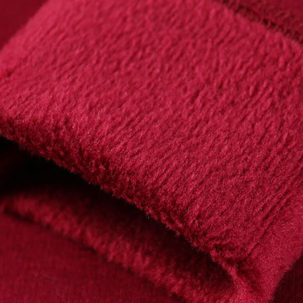 เสื้อคอสูง ผ้าคอตตอนซับกำมะหยี่กันหนาว