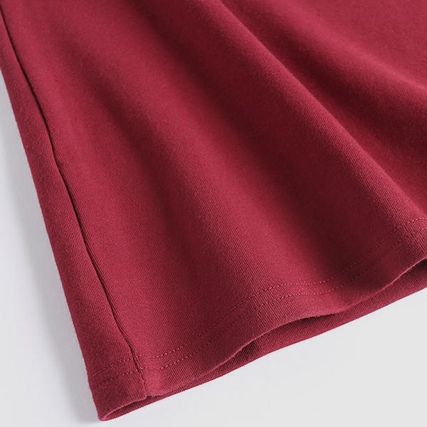 เสื้อคอเต่ากันหนาวตัวยาว ผ้าคอตตอนหนานุ่ม (12130X)