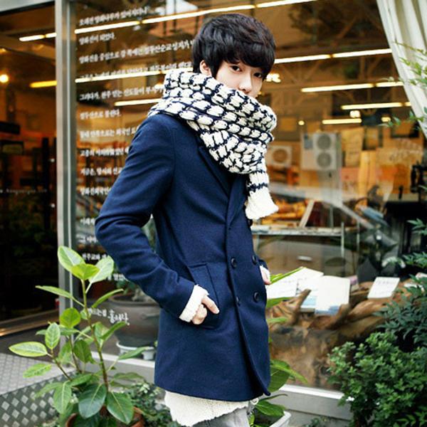 ผ้าพันคอไหมพรมหนานุ่ม ถักลายนูนสวย