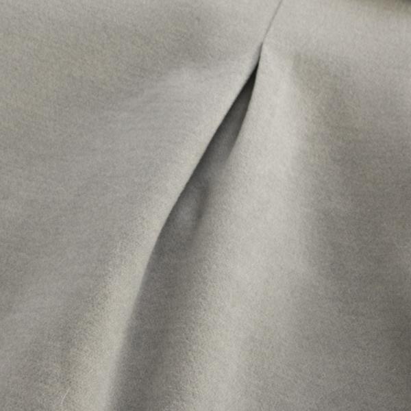 เสื้อโค้ทกันหนาววินเทจ ผ้าวูลหนานุ่มแต่งกระดุมเขี้ยว