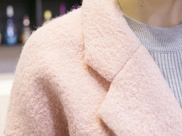 เสื้อโค้ท เสื้อโค้ทกันหนาว ผ้าวูลขนแกะ แต่งกระเป๋าคู่
