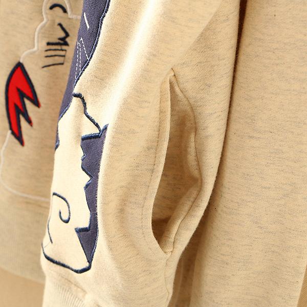 เสื้อแจ็คเก็ตกันหนาววิจเทจ ปักลายแมว แต่งกระเป๋าคู่