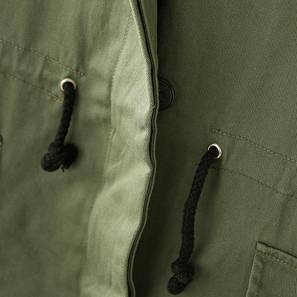 เสื้อแจ็คเก็ตกันหนาวตัวยาว ฮู้ดถอดได้ แต่งกระเป๋าคู่