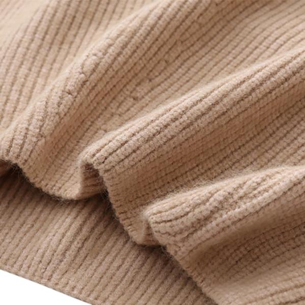 เสื้อสเวทเตอร์กันหนาว ไหมพรมหนานุ่ม แต่งถักลายวินเทจ