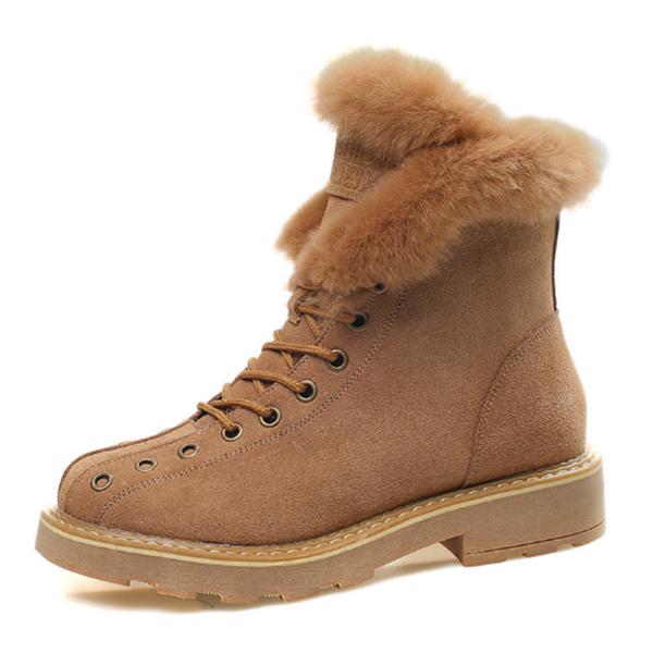 รองเท้าบูทหนัง(Suede)หุ้มข้อ กันหนาวติดลบลุยหิมะได้