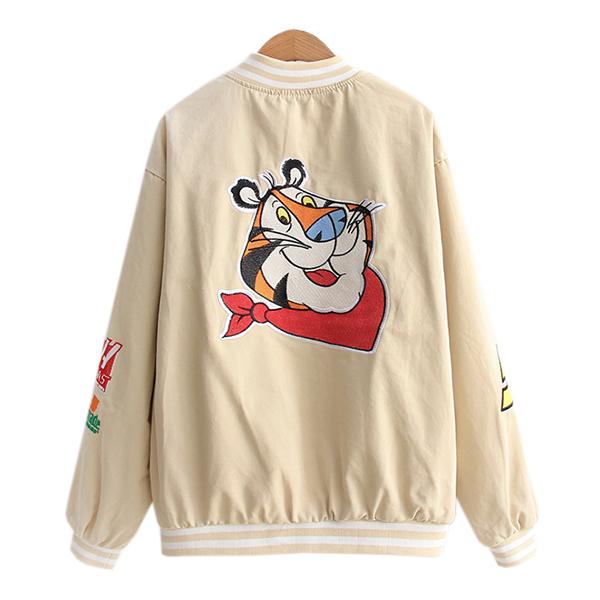 เสื้อแจ็คเก็ตกันหนาว แต่งปักลายการตูนน่ารัก