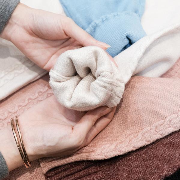 เสื้อไหมพรมคอสูง ผ้าไหมพรมนิตติ้งหนานุ่มถักลาย