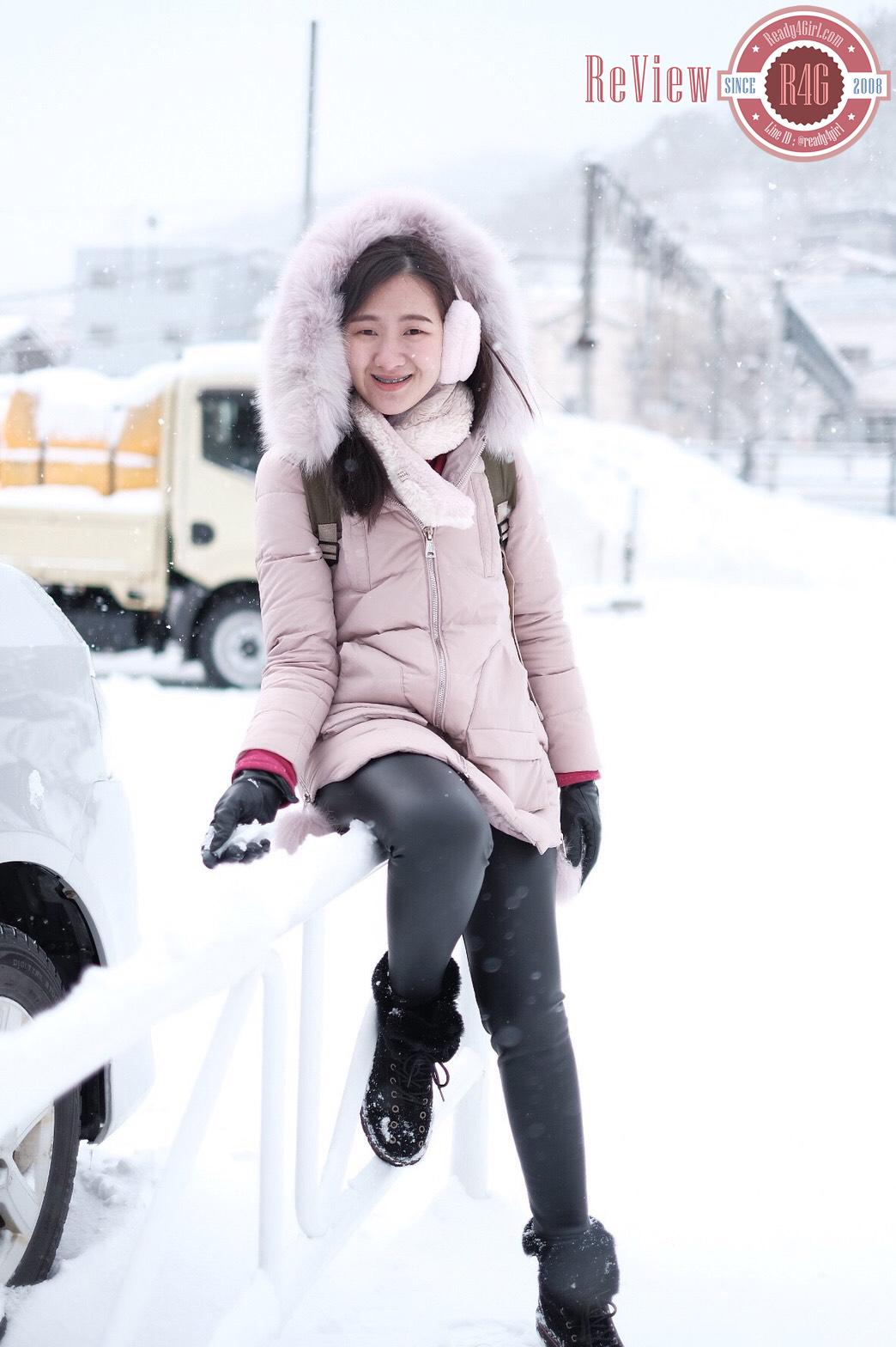 เสื้อโค้ทกันหนาวขนเป็ด มีฮู้ดแต่งเฟอร์แท้ ใส่ติดลบลุยหิมะได้