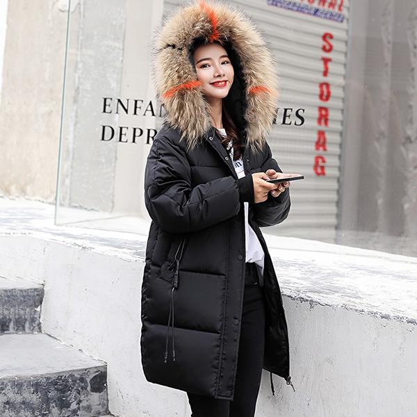 เสื้อโค้ทตัวยาวทรงโอเวอร์ไซส์ ใส่กันหนาวติดลบ ผ้ากันลมกันหิมะได้