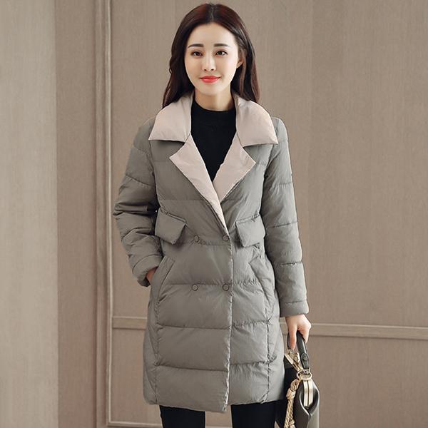 เสื้อโค้ทกันหนาวตัวยาว ผ้ากันลมกันหิมะใส่ติดลบได้