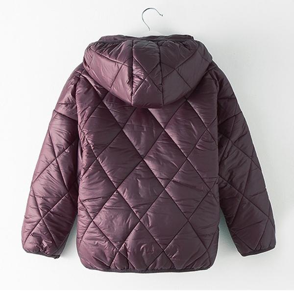 KIDs เสื้อโค้ทกันหนาวเด็กทรงโอเวอร์ไซส์ มีฮู้ด ผ้ากันลมกันหิมะได้