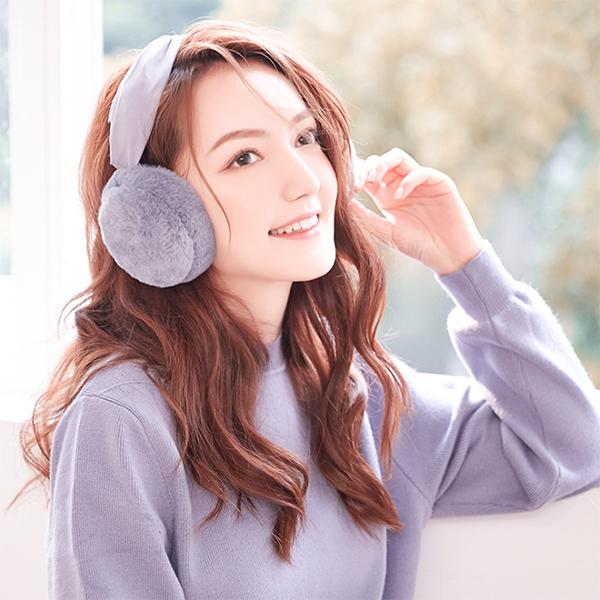 EarMuffs ที่ปิดหูกันหนาวขนนุ่ม แบบคาดผม พับเก็บได้ (12319L)