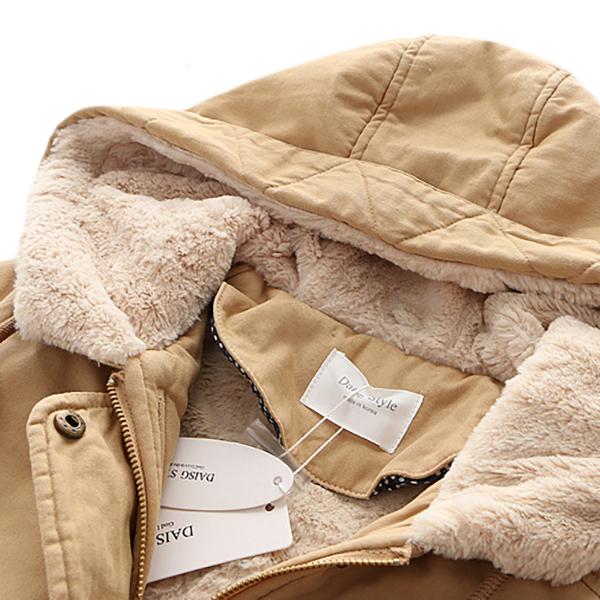 เสื้อโค้ทกันหนาววินเทจใส่ติดลบ มีฮู้ด ซับเฟอร์ขนนุ่มเต็มตัว