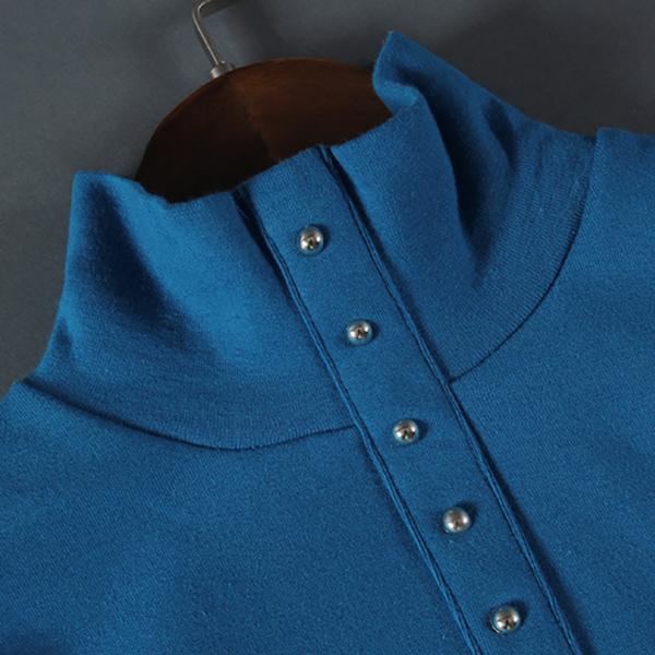เสื้อคอเต่า เสื้อคอสูง เสื้อแขนยาวซับกำมะหยี่กันหนาว