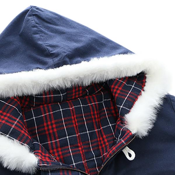เสื้อโค้ทกันหนาววินเทจ ฮู้ดแต่งเฟอร์ ปักลายสไตล์วินเทจ