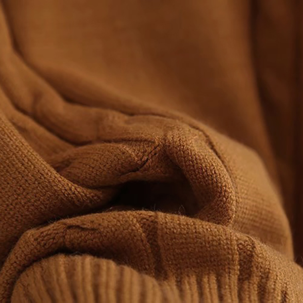เสื้อคอเต่า เสื้อคอพับ เสื้อไหมพรมวูลแขนบอลลูนถักลาย