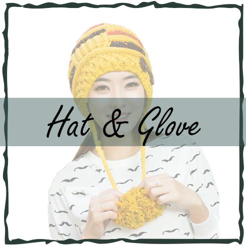 หมวกแฟชั่น-ถุงมือ