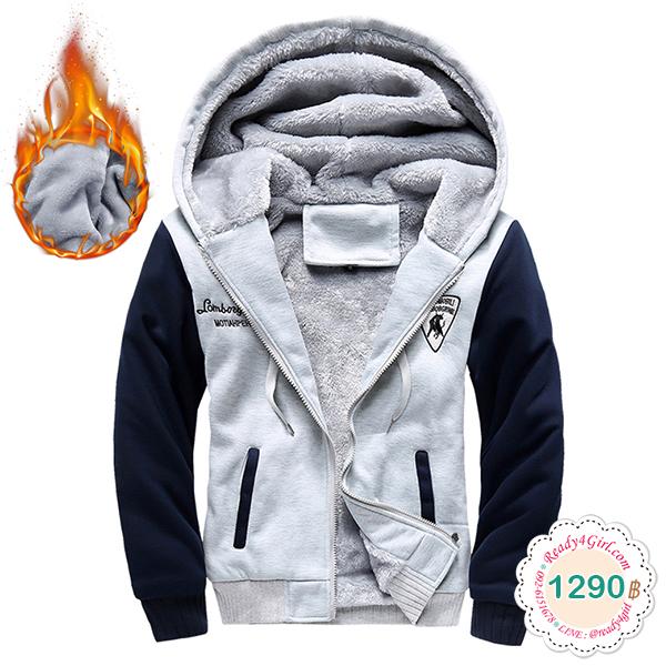 เสื้อแจ็คเก็ตโค้ทกันหนาวซับกำมะหยี่ ใส่ได้ทั้งชายหญิง (11681MM)