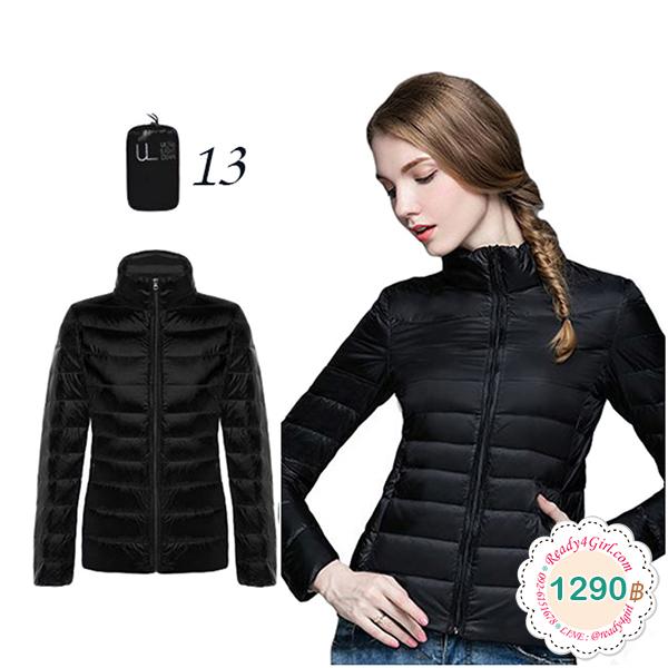 Ultra Light Down Jacket เสื้อกันหนาวขนเป็ดพร้อมถุงเก็บ (11718X)