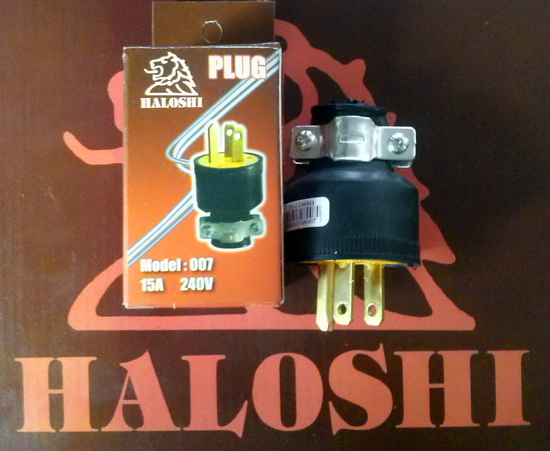 ���?�Ǽ�� 3�� Power Plug ������ Haloshi  �����º�ͧ����ͧ 15A 240V �Ҥ�..��ԡ