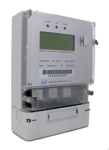 มิเตอร์ไฟฟ้า AMR Electronic Watt-Hour Meter ให้ความแม่นยำ ติดตั้งง่าย พร้อมมาตรฐาน มอก.  ขนาดมิเตอร์ไฟฟ้า AMR-EWM  Model 220V :EMS12D 15(45)A  และ  EMS12D 30(100)A รูปด้านบน  Model 3x220/380V : EMS34E(D) 30(100)A  และ  EMS34E(I) 1.5(6)A  รูปด้านล่าง