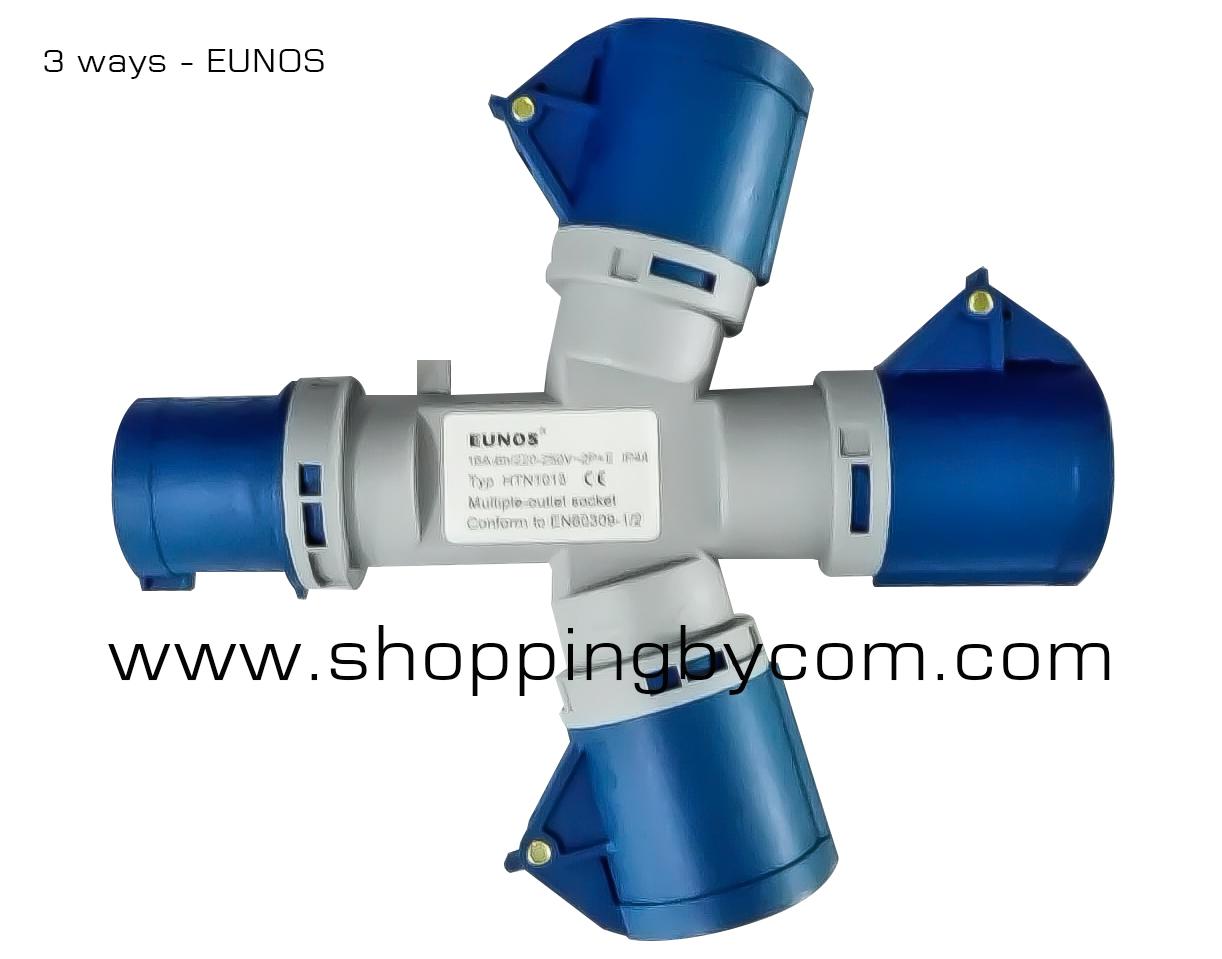3way -Power plug  พาวเวอร์ปลั๊ก3ทาง EUNOS -HTN1013
