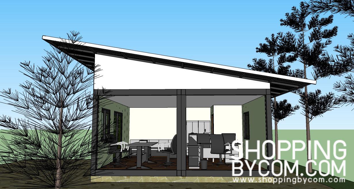 แบบบ้านจำลอง สามารถปรับเปลี่ยนเป็นแบบต่างได้ เช่น แบบบ้านสำเร็จรูปชั้นเดียว  แบบร้านกาแฟ แบบสำนักงาน แบบบ้านสำนักงานเคลื่อนที่ แบบบ้าน/สำนักงานน๊อคดาวน์