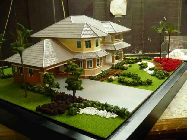 ตัวอย่างแบบโมเดลบ้าน อาคาร สำนักงาน คอนโดฯ.