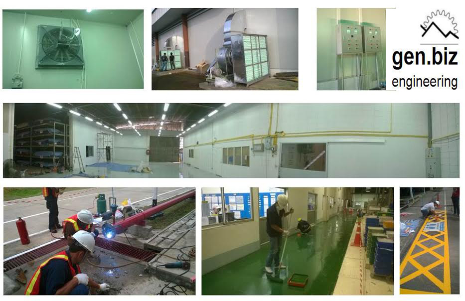 GEN.BIZ ENGINEERING รับเหมาก่อสร้าง ต่อเติม งานระบบ facility  Renovation ในโรงงานอุตสาหกรรม
