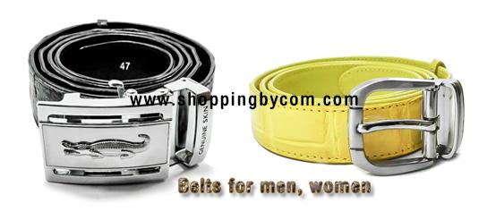 เข็มขัดหนังจระเข้ สำหรับผู้ชาย และผู้หญิง Belts for men, women