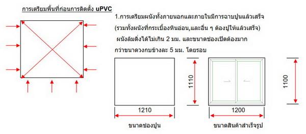 การเตรียมพื้นที่ก่อนการติดตั้งประตูหน้าต่างuPVCสำเร็จรูป โดยผลิตภัณฑ์Hoffen