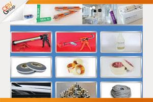 ผลิตภัณฑ์ ซิลิโคน,โพลียูรีเทน,กาวยาแนวกันรั่วกันซึม,อลูมิเนียมลายไม้, โฟมเส้น, กระดาษกาว,เทปใส, นอตัลเทป(เทปกาว 2 หน้า), น้ำยาM.E.K, ลิ่มพลาสติก, น็อตสกรูแบบเหล็กและสแตนเลส
