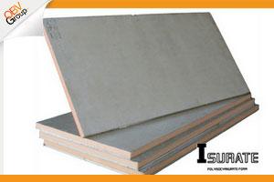 ผนังฉนวนกันร้อน ISURATE BOARD ผลิตจาก PIR (โพลีไอโซไซยานูเรท) เป็นฉนวนกันความร้อนคุณภาพสูง มีคุณสมบัติกันลามไฟ ใช้เป็นผนังโดยติดตั้งกับโครงสร้าง หรือติดตั้งกับผนังเดิมของอาคารไ และยังสามารถใช้เป็นเป็นฝ้าเพดานกันร้อนได้ด้วย