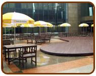 พื้นไม้ พื้นไม้เทียม ลานพักผ่อน ธนาคารกรุงครีฯ สำนักงานใหญ่