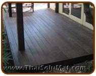 พื้นไม้ พื้นไม้เทียม WoodMax ลานหน้าบ้าน คุณมณฑิรา หมู่บ้านลลิล กรีนวิลล์