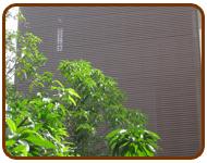 ระแนงบังตาไม้เทียม ระแนงบังแดดไม้เทียม บ้านคุณเกษม