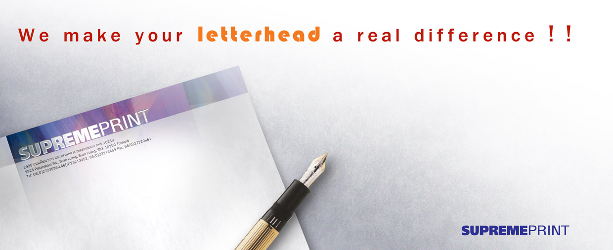 �ҹ����� ��Ǩ����� (Company Letterheads): �ç����� �ؾ������鹷� �Ѻ�������Ǩ��������ҧ�դس�Ҿ  www.supremeprint.net
