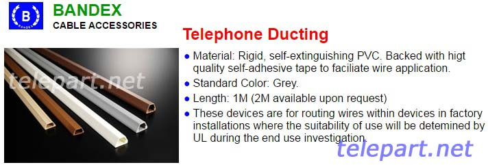 Bandex รางครอบสายโทรศัพท์ Telephone Duct