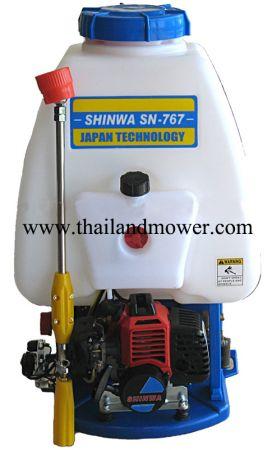 เครื่องพ่นยาสะพายหลัง ระบบปั้มฉีด ตรา SHINWA 767 ( ชินว่า ) ระบบ 2 จังหวะ