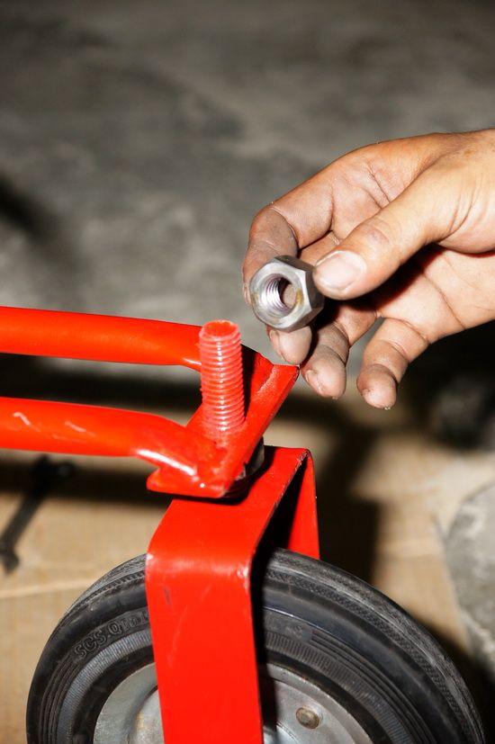 รีวิว สอนการติดตั้งล้อหน้า รถตัดหญ้า 3 ล้อจักรยาน